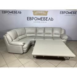 Угловой кожаный диван раскладной